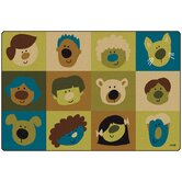 Friendly Faces Kids Rug