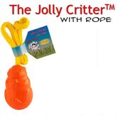 Floating Critter with Rope Dog Toy in Orange