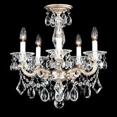 La Scala 5 Light Convertible Chandelier