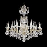 La Scala 24 Light Chandelier with Crystal