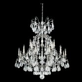 Versailles Rock Crystal 25 Light Chandelier