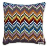Bargello Flame Pillow