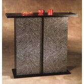 Americus Black &amp; Marble Glass-Top Bar