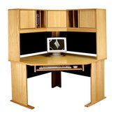 Office Modulars Corner Desk Office Suite with Keyboard Shelf