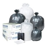 60 Gallon High Density Can Liner, 17 Micron in Clear, 25/Roll