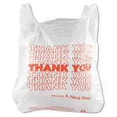 T-Shirt Thank You Bag in White, 900/Case
