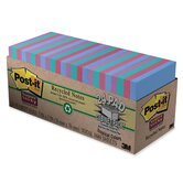 Super Sticky Pads Cabinet Pack, 3 x 3, Five Tropical Colors, 24 70-Sheet Pads