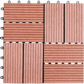 Eight Piece Composite Bamboo Deck Tile
