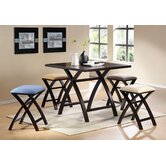 Cross 5 Piece Counter Height Dining Set