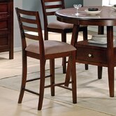Haley Counter Height Dining Chair in Multi-Step Rich Cherry