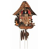 14&quot; Chalet Cuckoo Clock with Moving Woodchopper, Water Wheel and Dancing Children