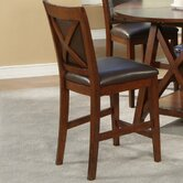 Oberlin Counter Height Chairs With Faux Leather Cushion