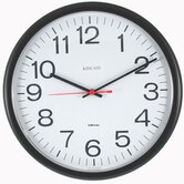 Always Set  Tubular Wall Clock in Black