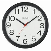 Thin Bezel Radio Controlled Wall Clock with Black Frame