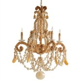 Strasbourg 6 Light Shell Chandelier