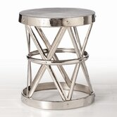 Costello Side Table in Polished Nickel
