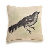 Bird Etching Pillow