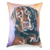 Painted Lab Pillow