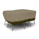 Villa Rectangular Or Oval Patio Table and Chair Set Cover in Birch and Walnut