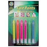 Crafty Dab Push-up Face 6 Pk Paints