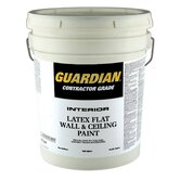 5 Gallons Flat White Contractor Grade Interior Latex Wall & Ceilin
