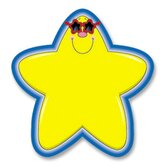 "Star Cutouts, 5-1/4""x5-1/4"", 36 Pieces, Yellow/Blue"
