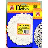 Doilies 6 White Round 100/pk