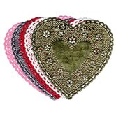 Doilies 4 White Hearts 100/pk