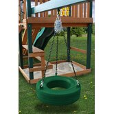 Commercial Grade Tire Swing in Green