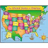 Usa Map Friendly Chart 17x22