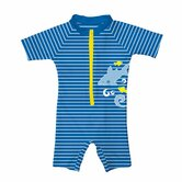 Stripe Sunsuit in Royal