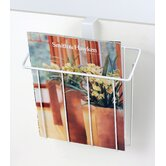 Over The Tank Magazine Rack in White