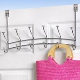 6-Hook Over-The-Door Windsor Rack in Satin Nickel