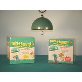 Twirl-a-Squirrel Baffle Feeder in Green