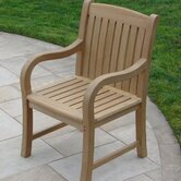 Teakwood Roll Dining Arm Chair