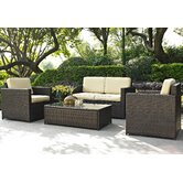 Palm Harbor 4 Piece Deep Seating Group with Cushions