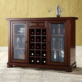 Alexandria Sliding Top Bar Cabinet in Vintage Mahogany