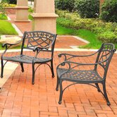 Sedona 2 Piece Cast Lounge Chair (Set of 2)