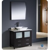 "Torino 36"" Modern Bathroom Vanity with Vessel Sink"