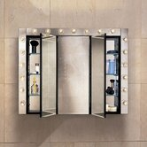 PL Series 36&quot; Beveled Tri View Medicine Cabinet
