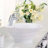 Cirque Bathroom Vessel Sink in White