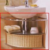Novella Basket and Towel Bar for Corner Unit