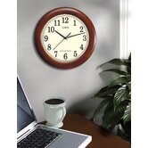 "12.5"" Bold Walnut Atomic Wall Clock"