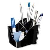"Desktop Organizer,4 Compartments,4-3/5""x3-1/2""x3-4/5"",Black"