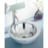 "Simply Stainless 15.5"" Double Walled Vessel Sink with Overflow"