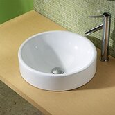"Classically Redefined 17.5"" Round Ceramic Vessel Sink"