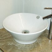 "Classically Redefined 16.5"" Round Ceramic Vessel Sink with Overflow"