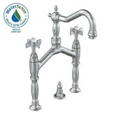 Savina Widespread Bathroom Sink Faucet with Double Cross Handles