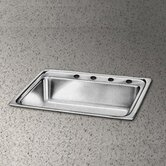Pacemaker Gourmet 25&quot; x 22&quot; Single Bowl Sink Set