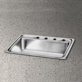 Pacemaker 33&quot; x 22&quot; Single Bowl Sink Set